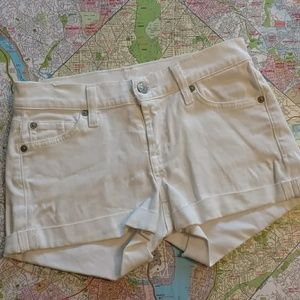 7 For All Mankind Roll Hem Shorts